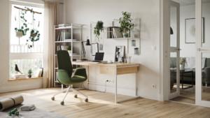 Décoration home office pour location meublée